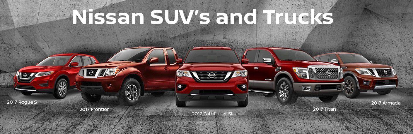 2017 Nissan SUVs and Trucks: Rogue vs. Pathfinder vs. Titan vs. Frontier vs. Armada
