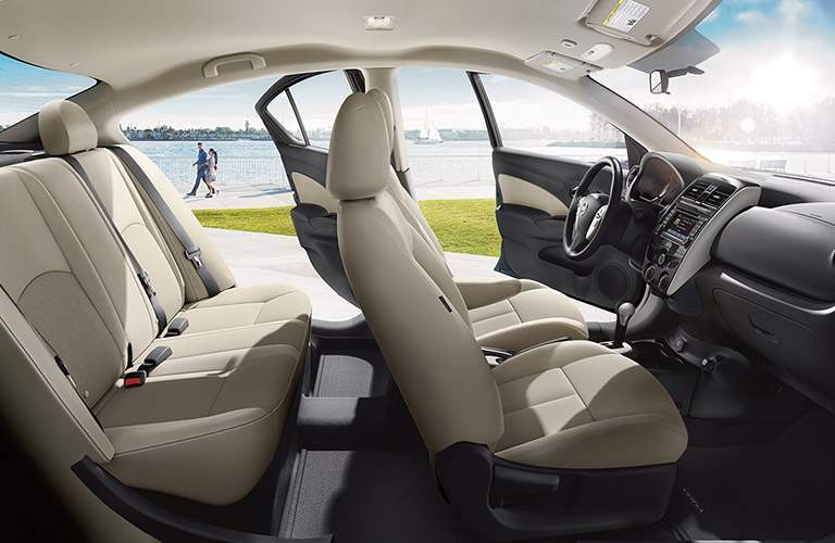 2017 nissan versa sedan interior cabin side view