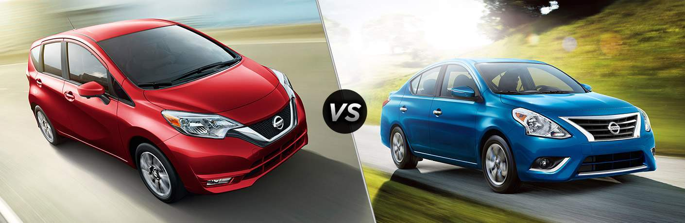 2017 nissan versa note vs 2017 nissan versa sedan