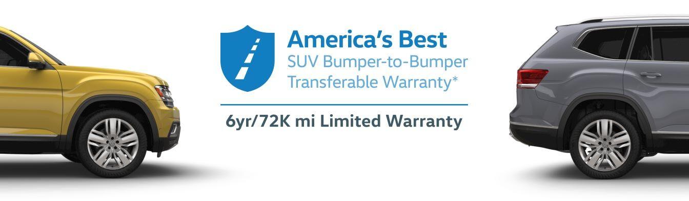 America's Best SUV Bumper-to-Bumper Transferable Warranty*