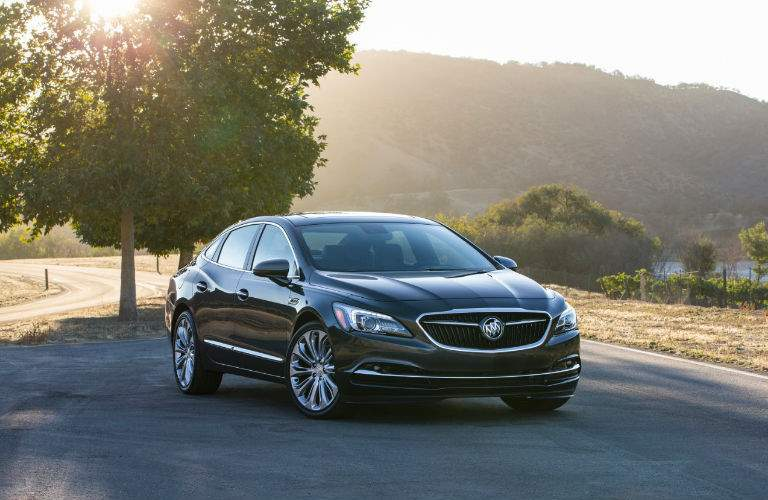 2017 Buick LaCrosse parked dramatically in front of hills and trees