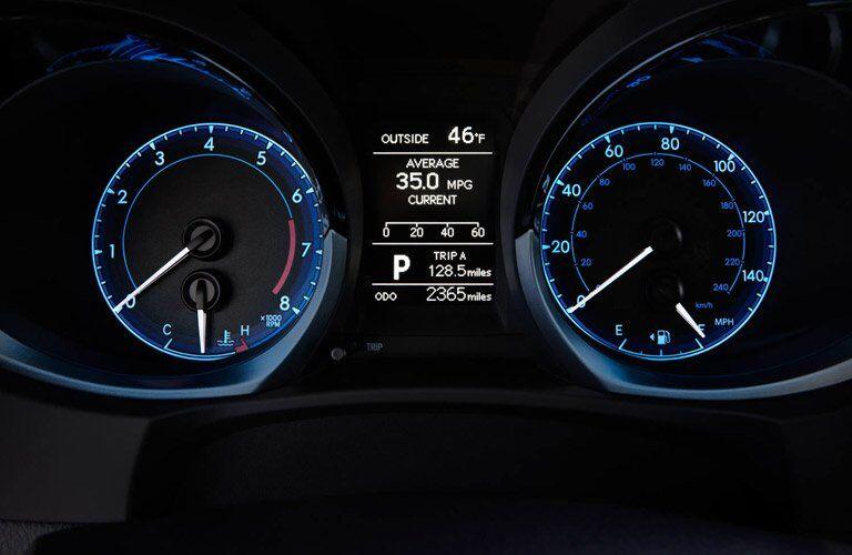2018 Toyota Corolla instrumentation