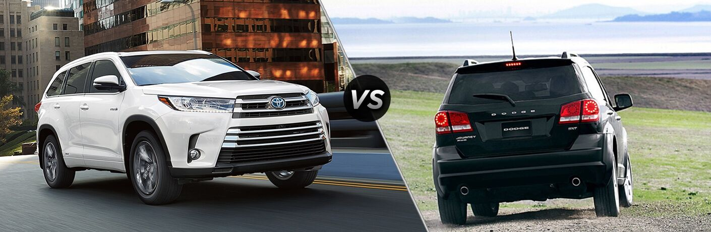2018 Toyota Highlander vs 2018 Dodge Journey