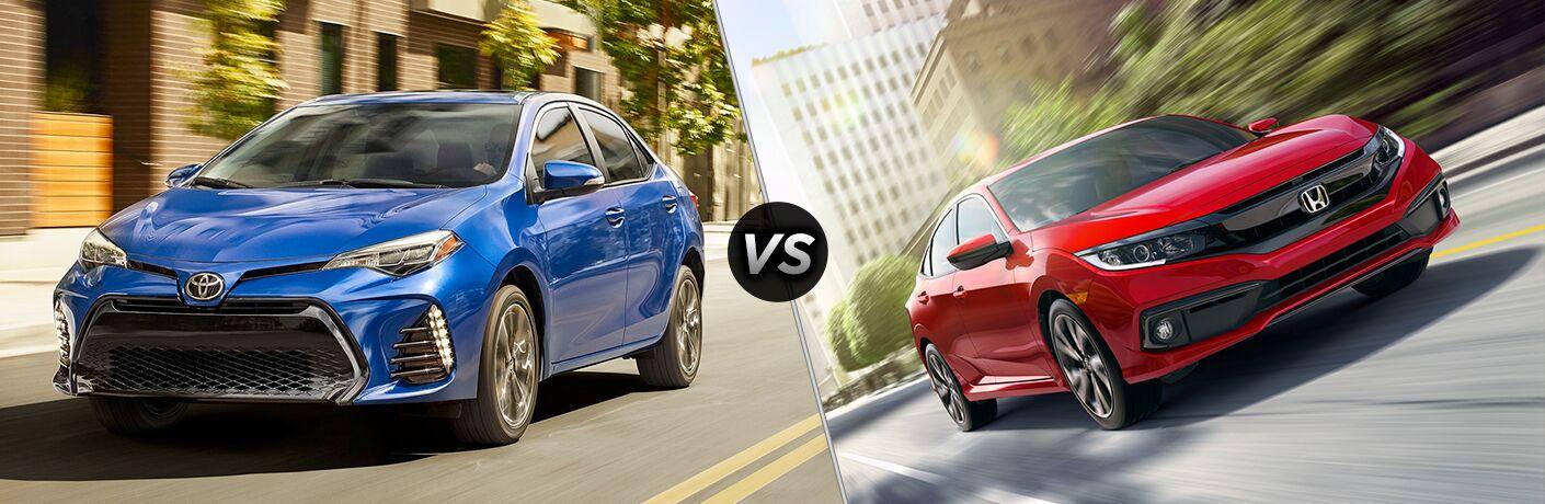 2019 Toyota Corolla vs 2019 Honda Civic