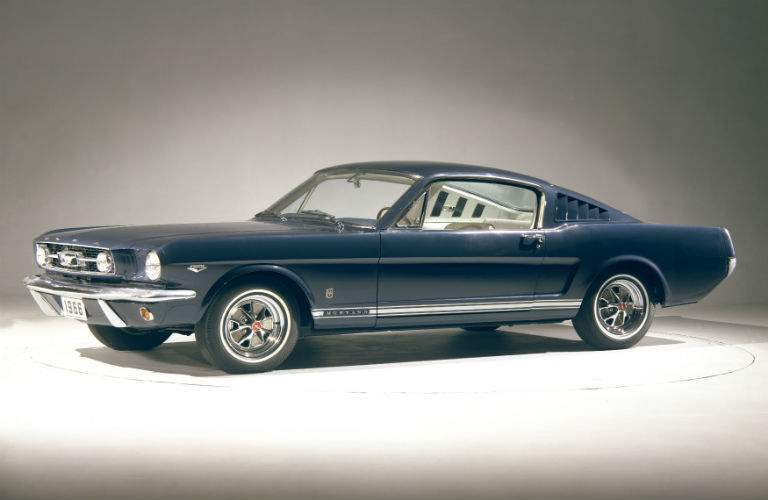 Side exterior view of 1966 Ford Mustang