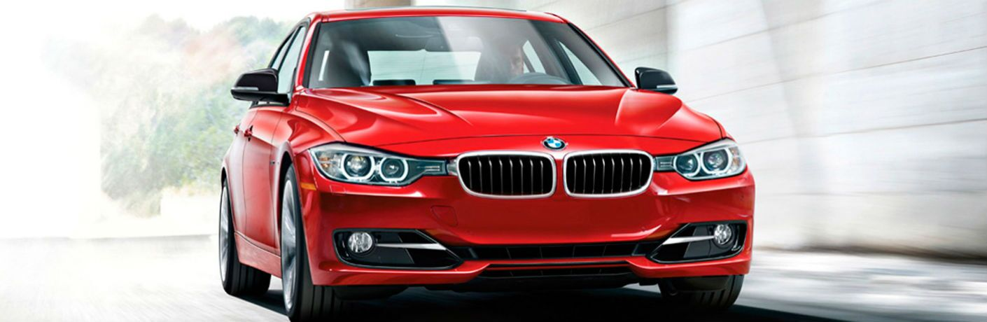 Front exterior view of a red 2015 BMW 3 Series