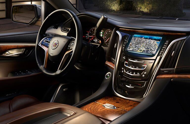 Side view of the 2015 Cadillac Escalade's driver's cockpit