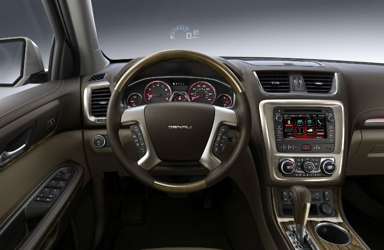 Driver's cockpit of the 2015 GMC Acadia