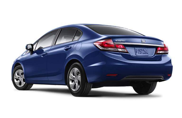 Rear exterior image of 2015 Honda Civic sedan