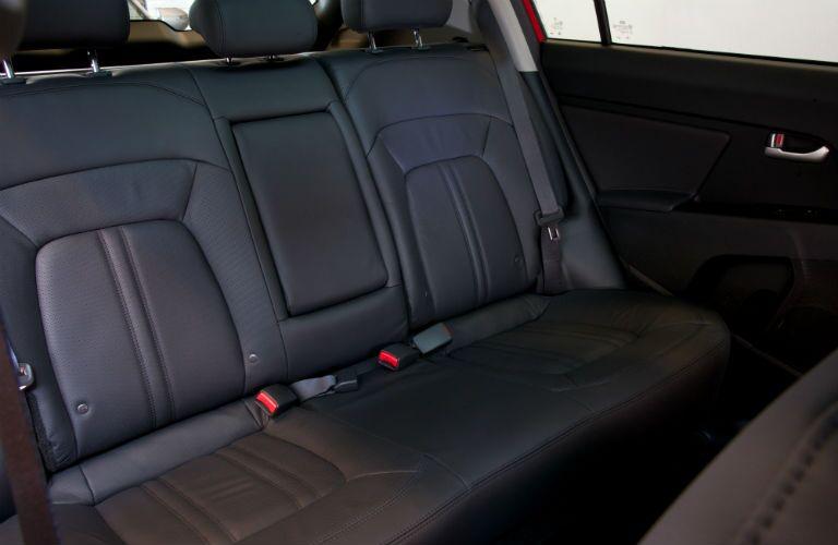 The rear seat inside the 2015 Kia Sportage