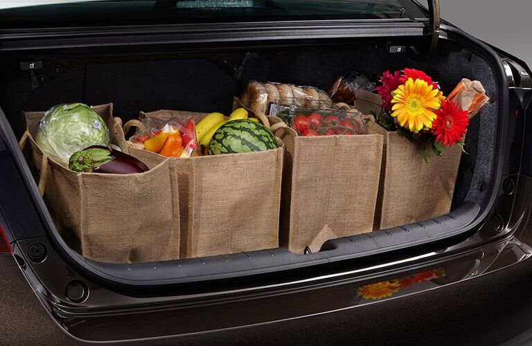 Trunk of the 2016 Honda Accord filled with groceries