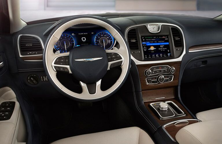 Driver's cockpit of the 2016 Chrysler 300