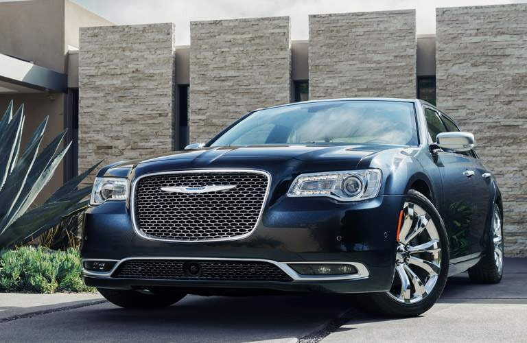Front exterior view of a blue 2016 Chrysler 300