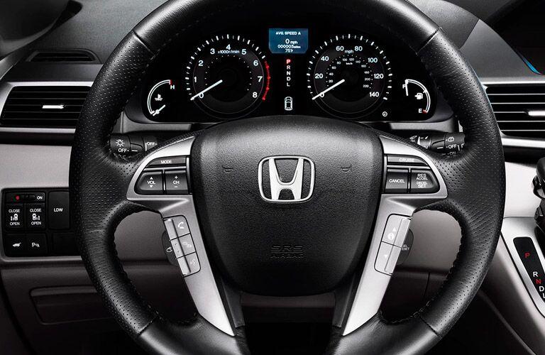 Steering wheel mounted controls of the 2016 Honda Odyssey