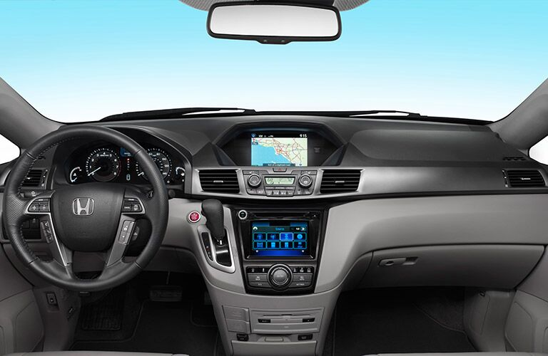 Driver's cockpit of the 2016 Honda Odyssey