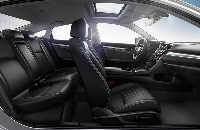 Two rows of seating inside 2016 Honda Civic