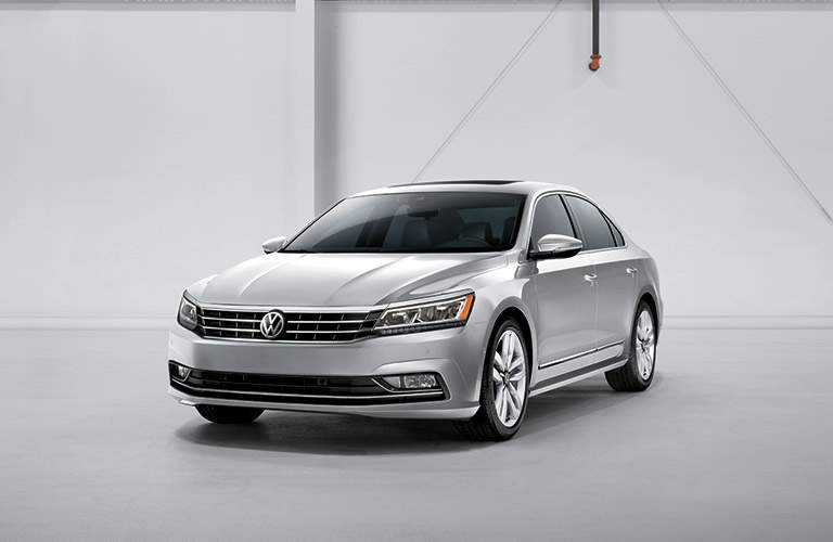 Front exterior view of a gray 2016 VW Passat