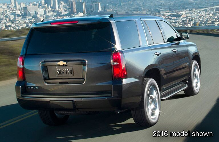 rear side view of 2016 Chevy Tahoe