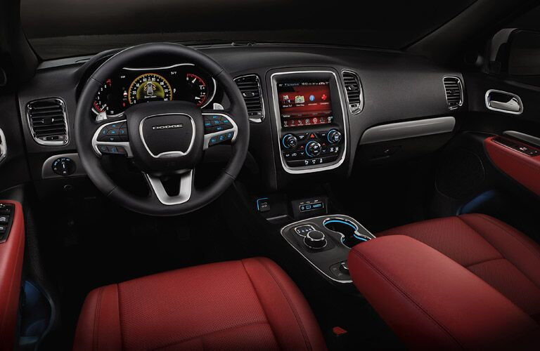Driver's cockpit of the 2017 Dodge Durango