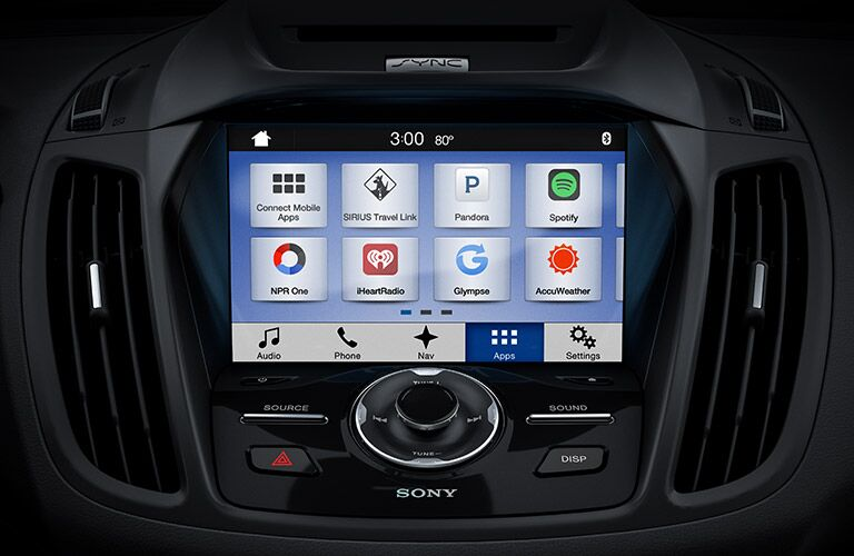 Touchscreen display of the 2017 Ford Escape