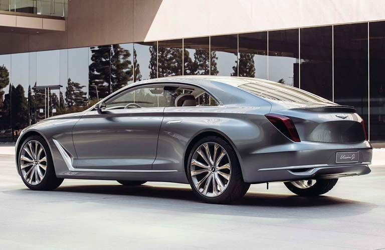 Rear exterior view of 2017 Hyundai Genesis