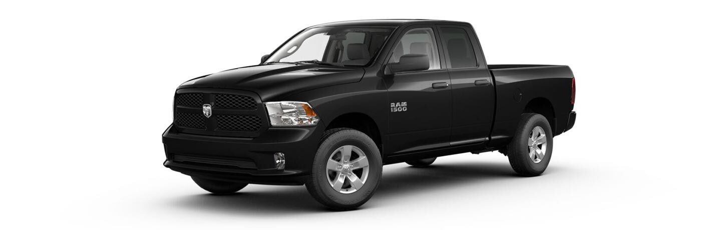 Driver side exterior view of a black 2017 Ram 1500