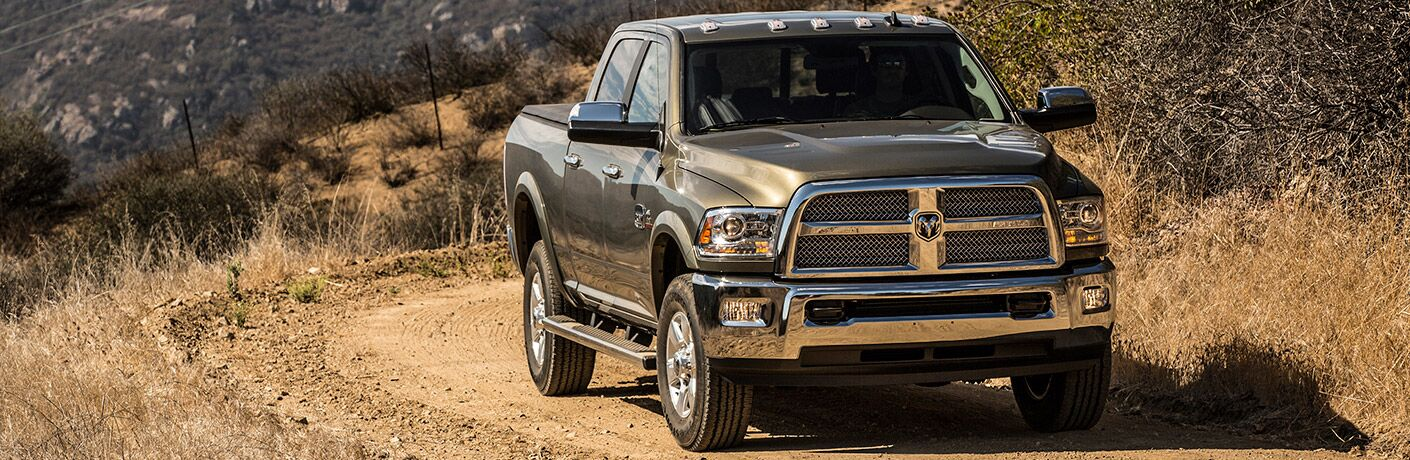 Front exterior view of a gray 2017 Ram 2500
