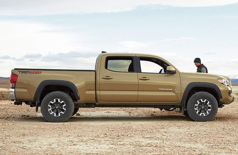 side exterior view of 2017 Toyota Tacoma