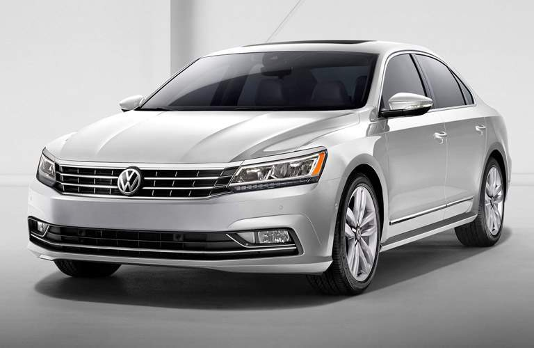 front exterior view of a gray 2017 VW Passat