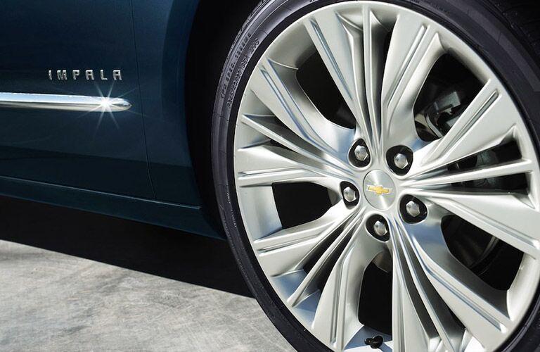 2018 Chevy Impala close-up look at wheel