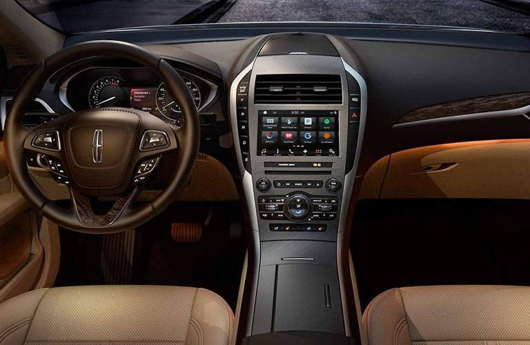 2018 Lincoln MKZ interior overview with tan leather