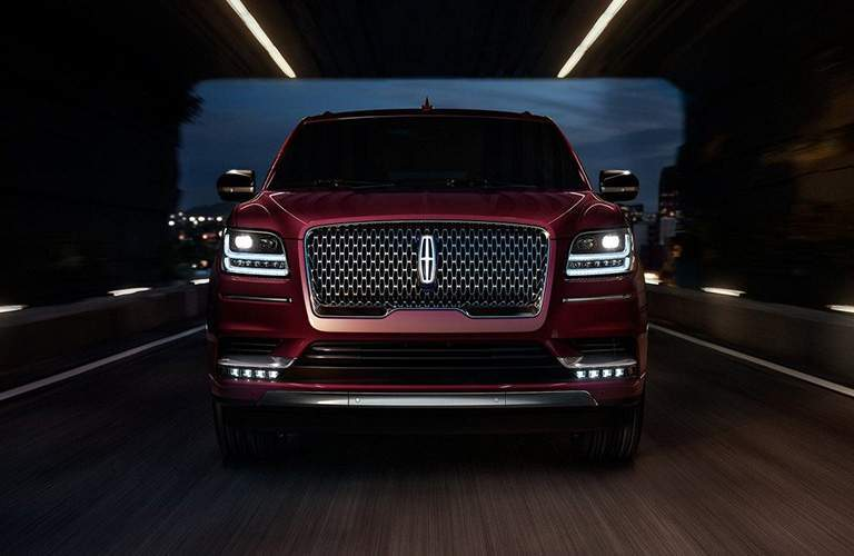 2018 Lincoln Navigator red front view