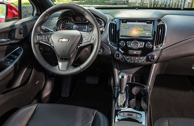 Steering wheel and dashboard of 2016 Chevy Cruze