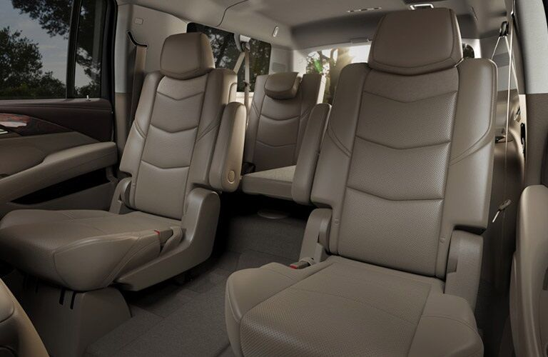 Second and third-row seats in the 2016 Cadillac Escalade