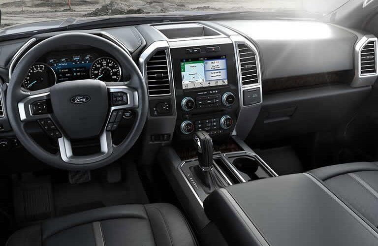 Steering wheel and dashboard of 2016 Ford F-150