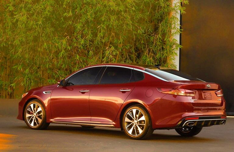 Red 2016 Kia Optima sedan