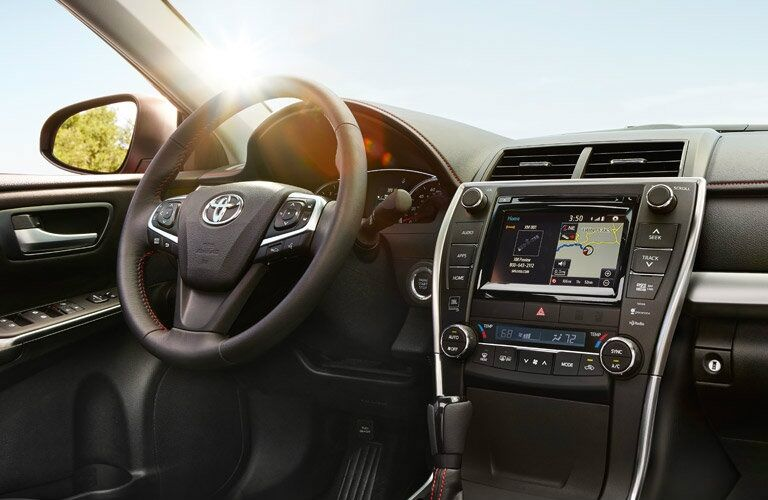 Steering wheel and dashboard of the 2016 Toyota Camry