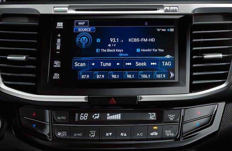 2017 Honda Accord touchscreen display