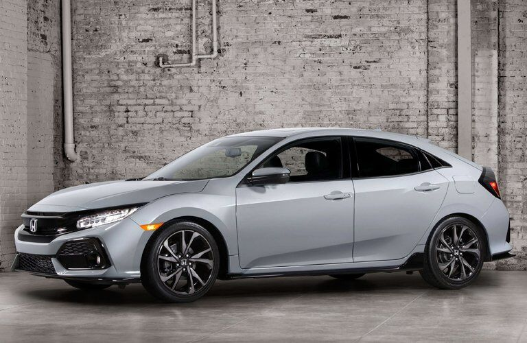 2017 Honda Civic Hatchback aerodynamic design