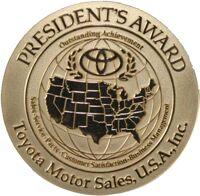 Toyota President's Award Medal