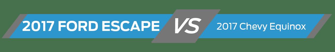 2017 Ford Escape Vehicle Comparison
