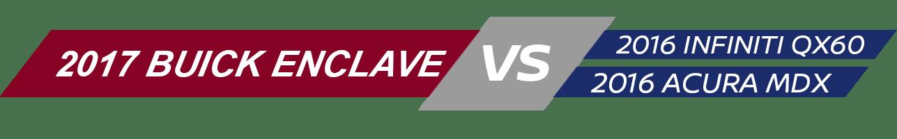 Buick  Enclave Vehicle Comparison