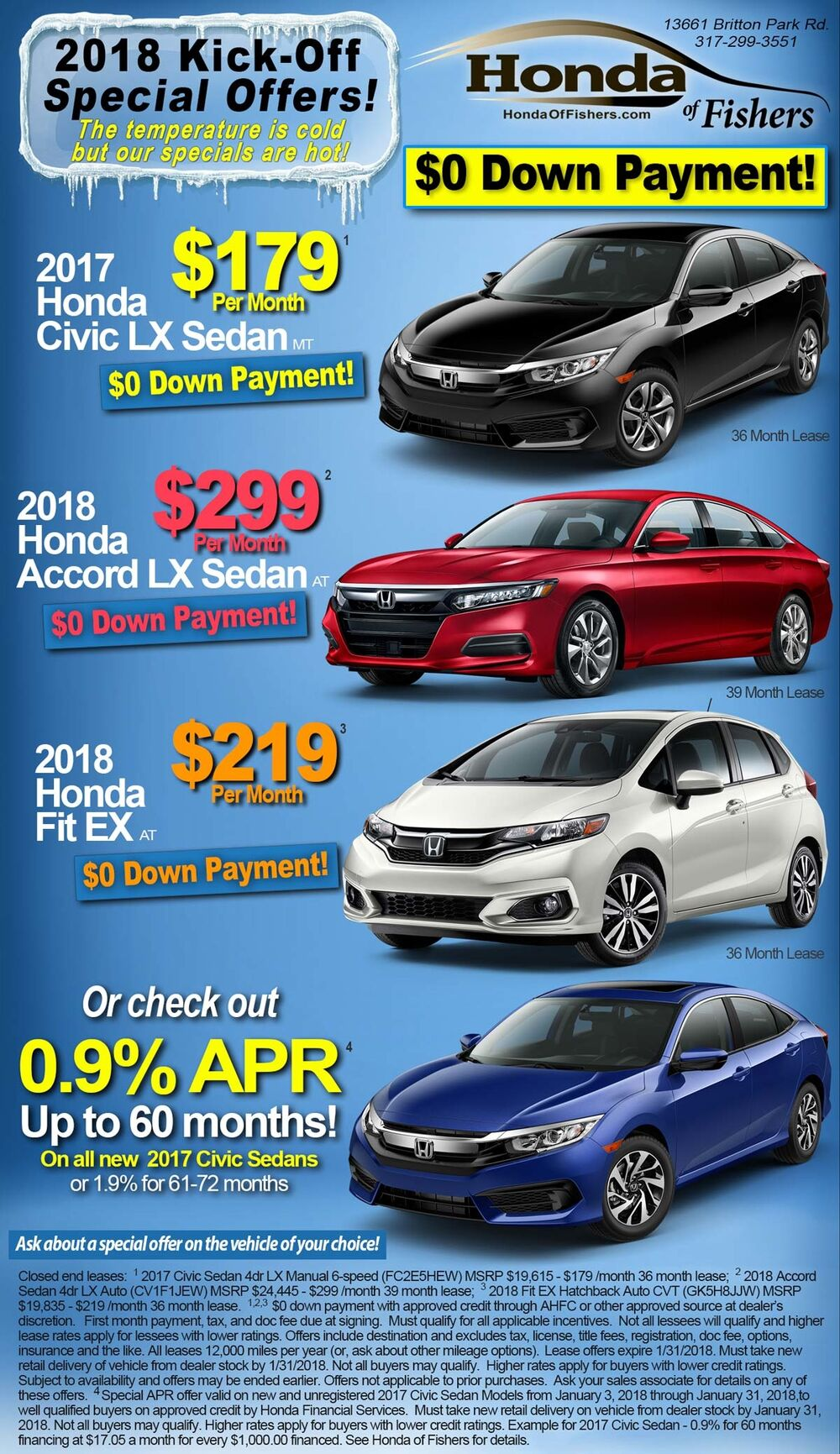 Special offers at Honda of Fishers