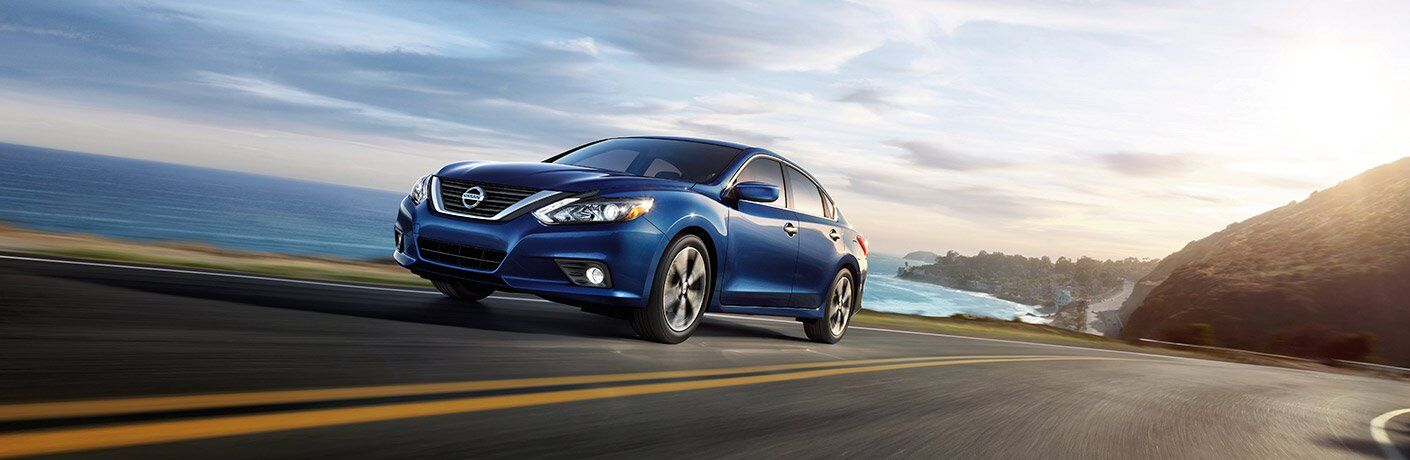 Blue 2017 Nissan Altima near Beach