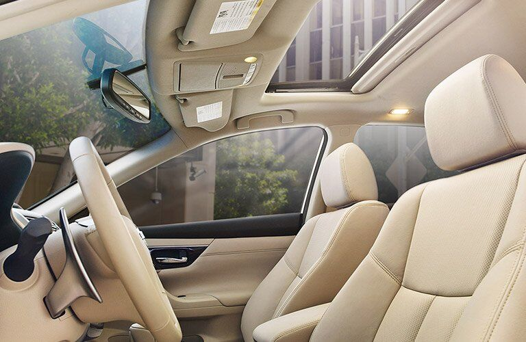 2017 Nissan Altima Beige Interior Front Cabin Side View