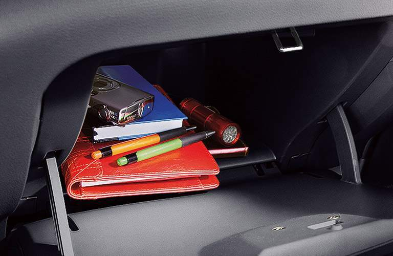 2017 Nissan Versa interior storage, items in glove box