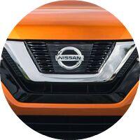 2017 Nissan Rogue grill and emblem closeup