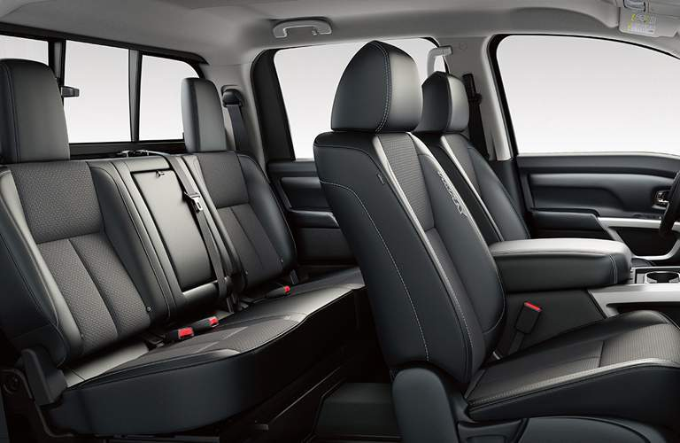 black seats inside nissan titan