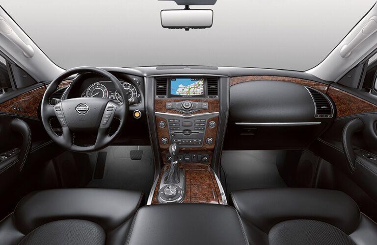 2019 Nissan Armada interior front half