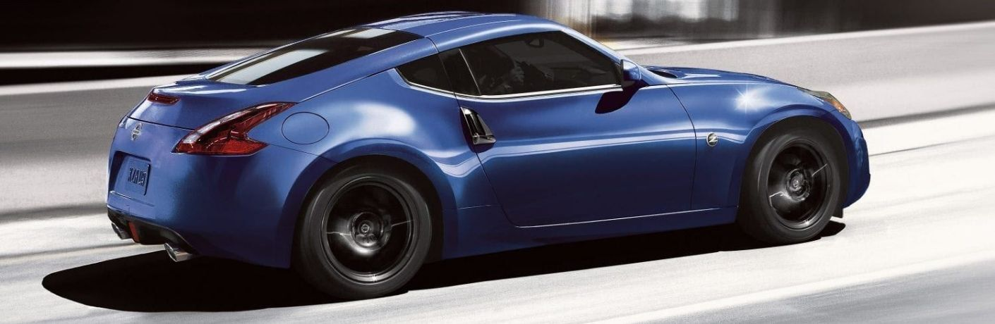 Exterior view of a blue 2020 Nissan 370Z